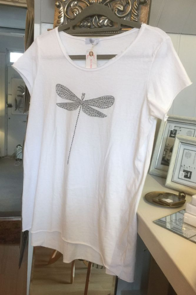 Dragonfly T -  Shirt - White